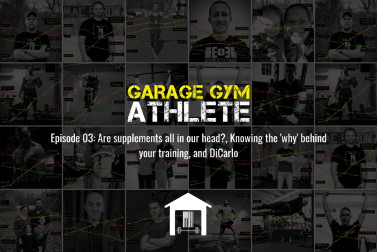 garage gym, garage gym athlete, end of three fitness, supplements