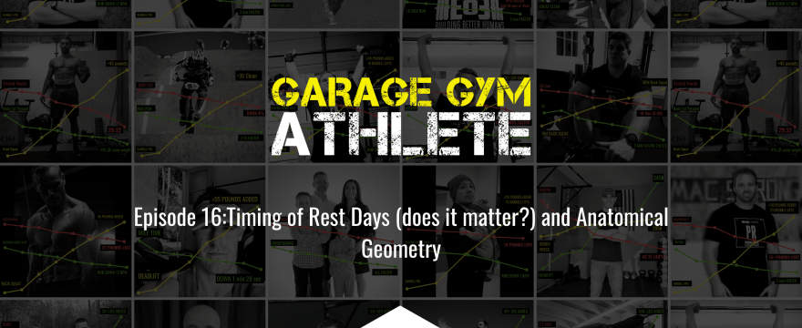 garage gym, garage gym athlete, concurrent training, rest days, timing rest days, end of three fitness, fitness, sally's revenge