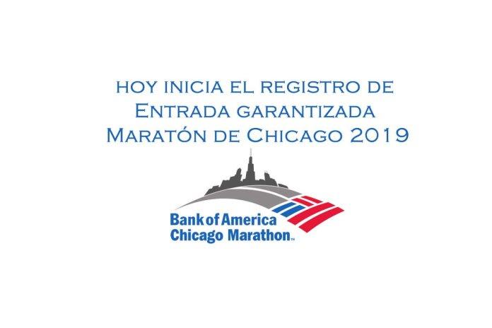 Entrada garantizada Maratón de Chicago 2019
