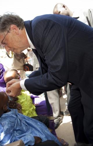 Bill Gates Administering a Polio Vaccine