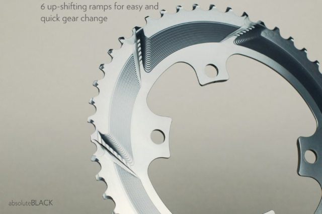 absoluteblack road Oval chainring - shifting ramps