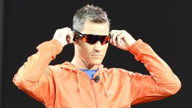 At CES 2016 Craig Alexander showcases new Oakley Radar Pace smart glasses powered by Intel