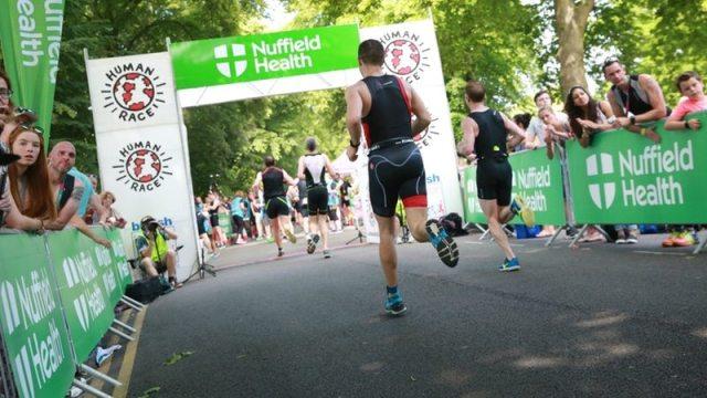 Windsor Triathlon finish - Human Race