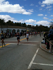 Boston Marathon in Wellesley Center
