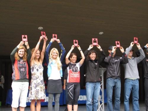 Jen Datwyler on the podium at Ironman® Coeur d'Alene 2013 - Team Endurance Nation