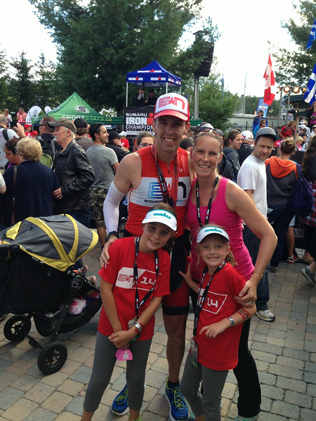 Coach P and Family After IM Mont Tremblant 2014!