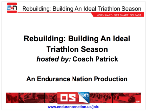 Building an Ideal Triathlon Season Webinar Slide