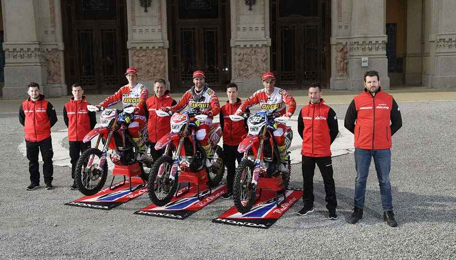 Honda Racing Redmoto World Enduro Team pronto per la prova d'apertura degli Assoluti d'Italia 2018