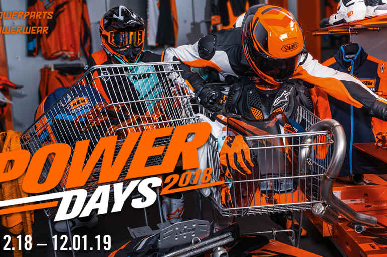 KTM Power Days, pronti a fare il pieno di regali?
