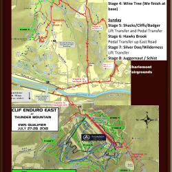 MAPS and INFO: CLIF Enduro East at Thunder Mountain EWS Qualifier