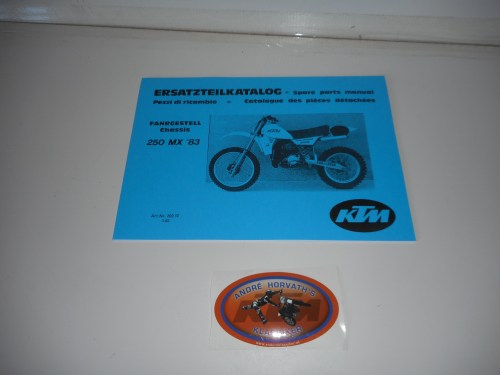 small resolution of ktm spare parts manual frame 250 1983
