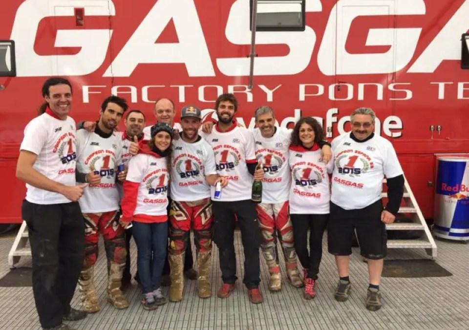 Un team Gas Gas en EnduroGP 2016