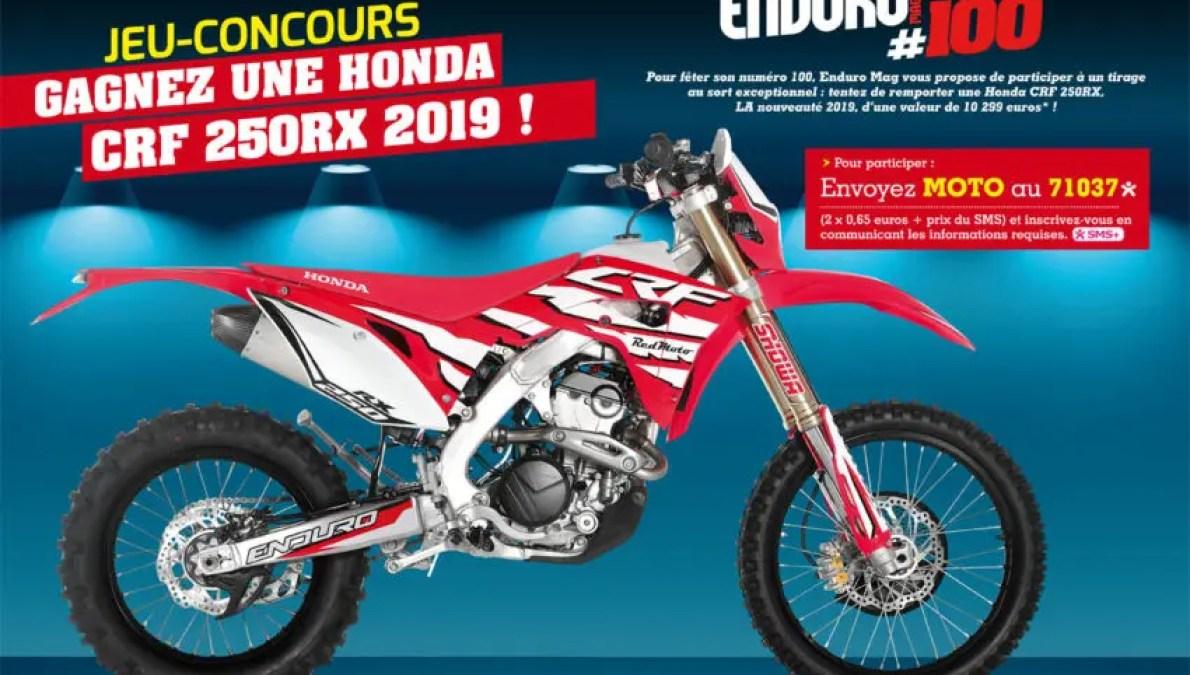 REGLEMENT DU JEU-CONCOURS : Gagnez une Honda CRF 250RX 2019