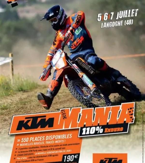 KTM Mania 2019 : les inscriptions sont ouvertes