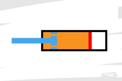 Pour éviter d'avoir à retirer de l'huile, le Piston Interne Flottant (IFP, internal Floating Piston en anglais)prend place dans la chambre. Il sépare l'huile d'une cavité remplie d'un gaz, compressible lui.