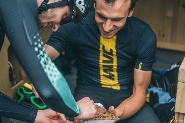 C'est devenu une habitude, chaque fin d'entraînement ou de course est marquée par la dégustation d'un Brownie…