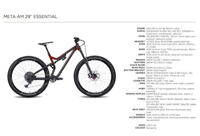 Commençal Meta AM 29 Essential - 2999€
