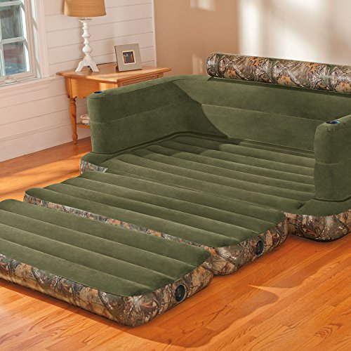 best sofa sleeper mattress black chesterfield nz intex inflatable realtree camo print queen size pull-out ...