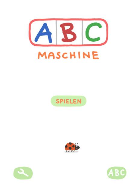 Wörter Lernen mit der Kinder Lern App ABC Maschine