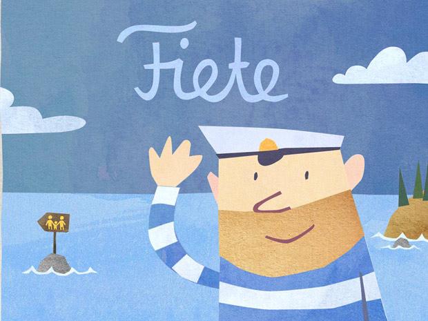 süße Mini Spiele Kinder App mit Seemann Fiete