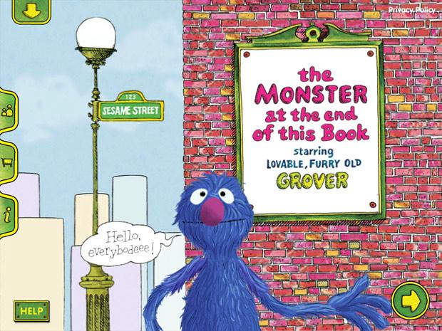 englische Kinderbuch App mit Grobi aus der Sesamstraße