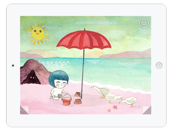 Süße Kinderbuch App über Licht und Farben