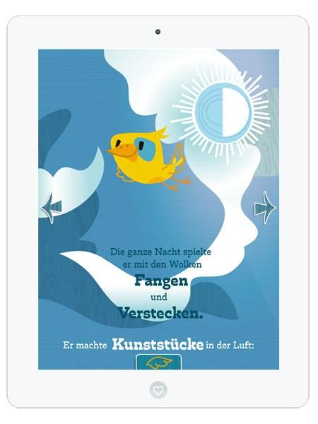 Kinderbuch-App mit süßem Vogel Piet– tolle App für die Vorschule
