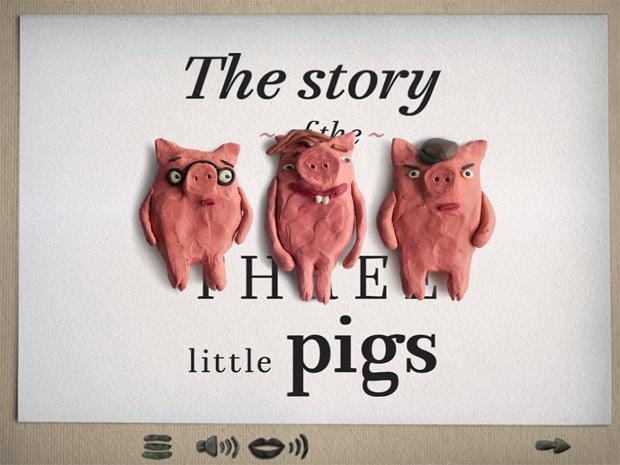 Süße Märchen Kinderbuch App aus Knete