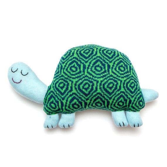 Handgemachte Stoff Schildkröte zum Einschlafen von Saracarr