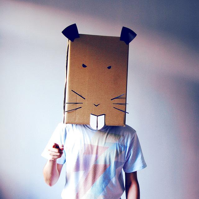 Hamster Karton-Kostüm-Idee