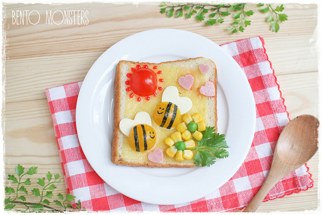 Bento Monsters Toast