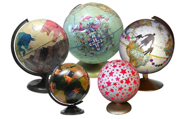 Image Nations künstlerischer Globus