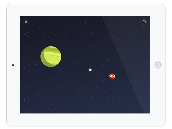 Spiele App im Weltall für ältere Kinder