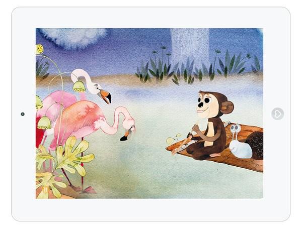 Geschichte über eine Freundschaft zwischen Affe und Schnecke