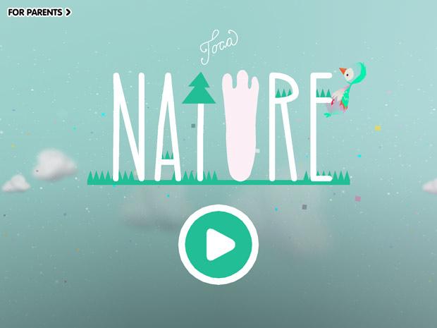 Natur formen, Tiere füttern mit der Toca Nature App
