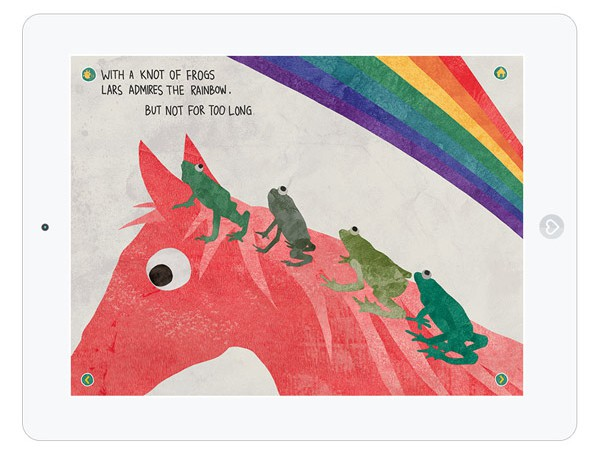 Lehrreiche Kinder App mit einem Pferd und seinen Tier Freunden