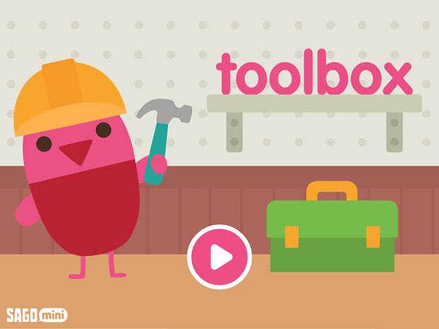 Sago Mini Werkzeugkasten: Kinder App zum Hämmern, Bohren und Sägen