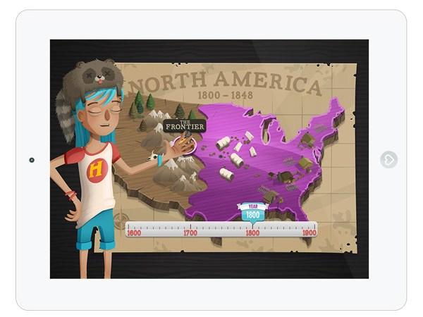 Lern App über amerikanische Geschichte für ältere Kinder