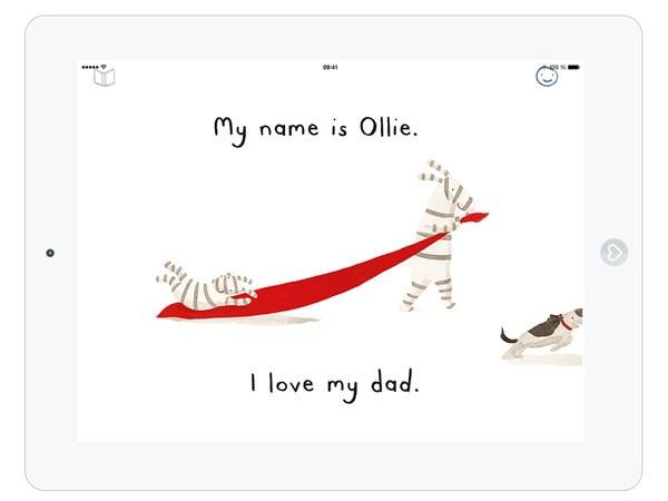 englische Bilderbuch App über Liebe zum Vater