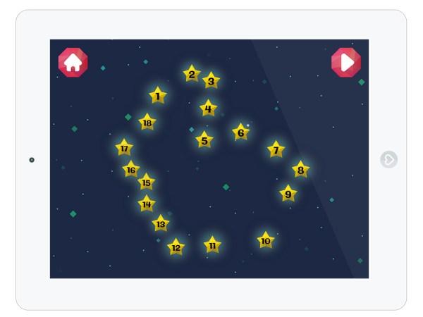 Lernapp zum Zahlen lernen mit Sternen für Kleinkinder