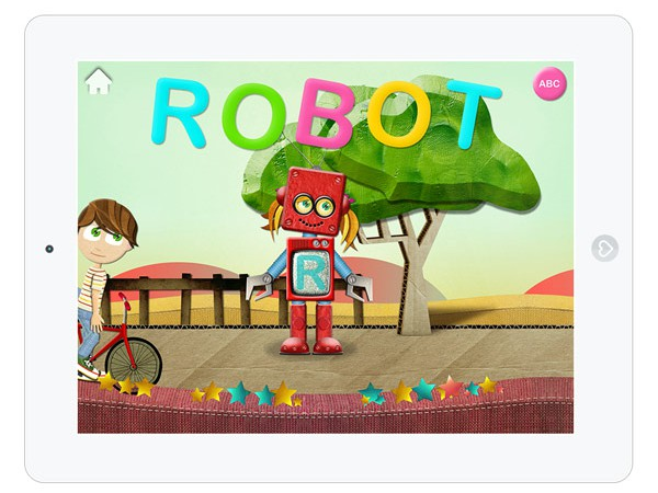 hübsche Alphabet Lern App für Kinder