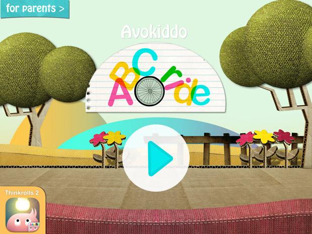 Kinder Lern App über englisches Alphabet