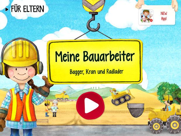 Wimmelbuch App mit Bauarbeiter