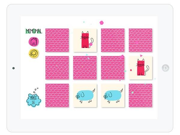 Kinder Memory App als Gesellschaftsspiel