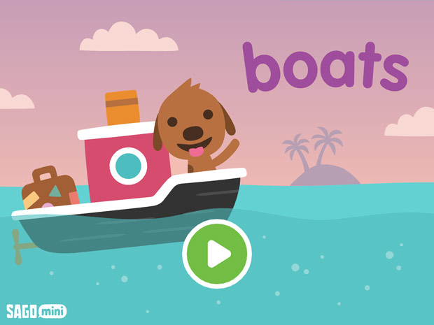 Boot fahren mit Sago Mini