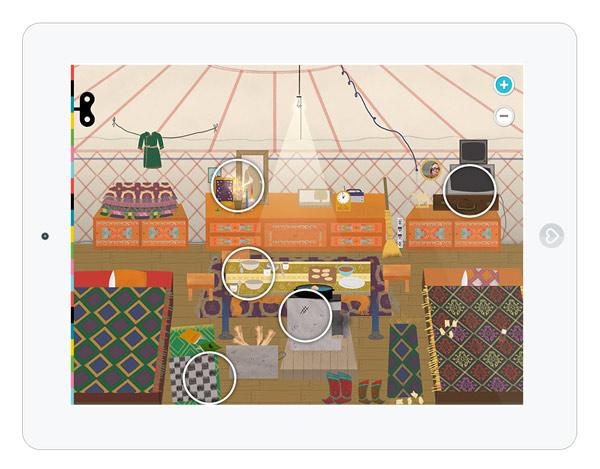 Erlebnis-App über Häuser in verschiedenen Kulturen