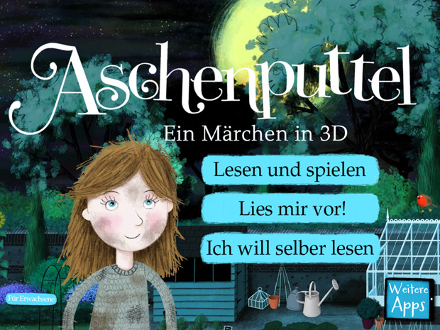 Märchen App für Kinder Cinderella
