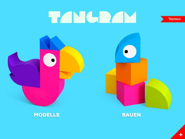 Puzzle Spiele App zum Formen lernen und Kreativsein