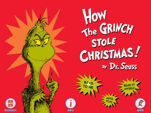 Kinderbuch App über Weihnachten von Dr. Seuss für Kinder