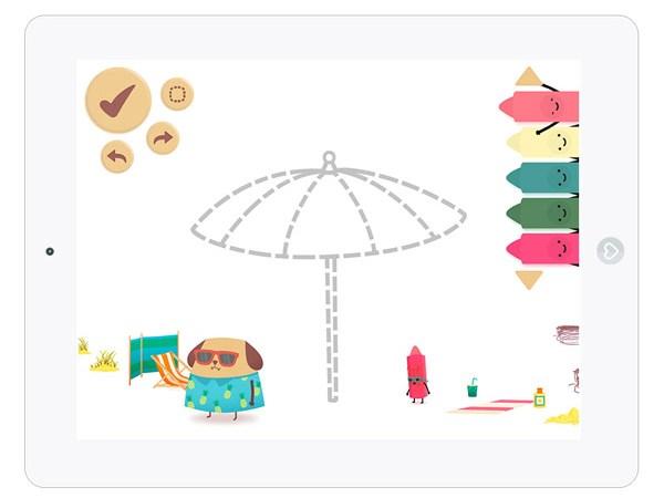 Putzige Mal App für Kinder